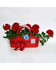 Shopping bag con fioritura stagionale - colori vari